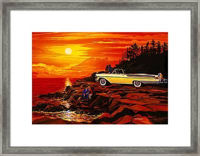 57 Merc Sunset Framed Print by Bruce Kaiser