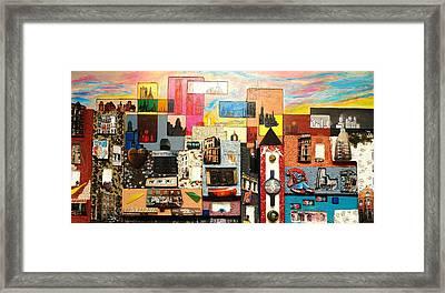 57th  Street Kaleidoscope Framed Print
