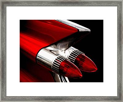 '59 Caddy Tailfin Framed Print by Douglas Pittman
