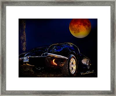 59 Corvette Moon Framed Print