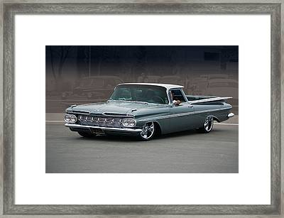 Framed Print featuring the photograph 59 El Camino Rod by Bill Dutting