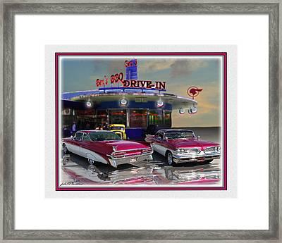 59 Pontiac Framed Print by John Breen