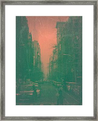 5th Avenue Framed Print by Naxart Studio