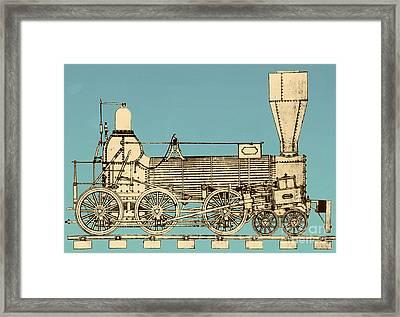 19th Century Locomotive Framed Print by Omikron