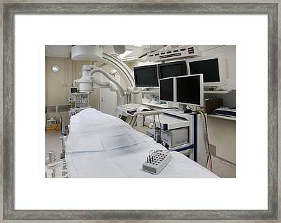 A Treatment Room In The Intensive Care Framed Print by Jaak Nilson
