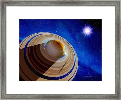 Alien Planet Framed Print by Detlev Van Ravenswaay