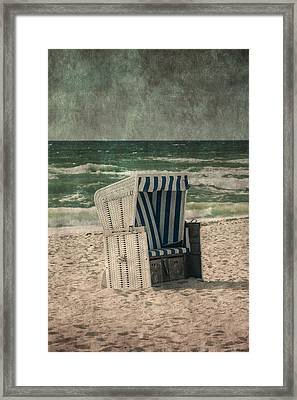 Beach Chair Framed Print by Joana Kruse