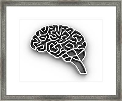 Brain Complexity, Conceptual Artwork Framed Print