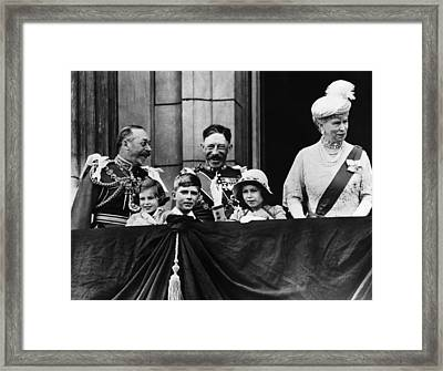 British Royal Family. From Left British Framed Print by Everett