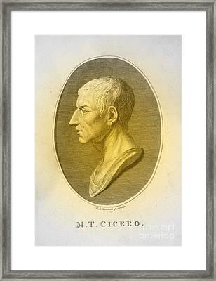 Cicero, Roman Philosopher Framed Print