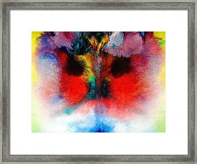 Colorful Water Color Painting Framed Print by Sumit Mehndiratta