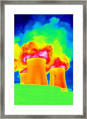 Cooling Towers, Thermogram Framed Print by Tony Mcconnell