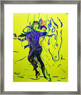 Dinka Dance - South Sudan Framed Print by Gloria Ssali