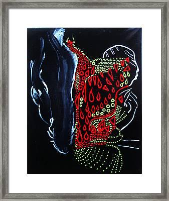 Dinka Groom - South Sudan Framed Print