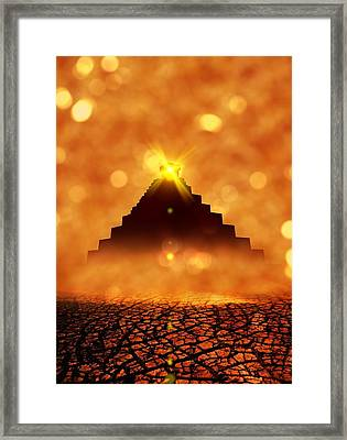 End Of The World In 2012 Conceptual Image Framed Print