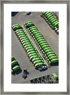 Garbage Truck Fleet Framed Print by Don Mason