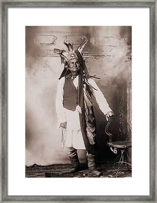 Geronimo 1829-1909, Chiricahua Apache Framed Print