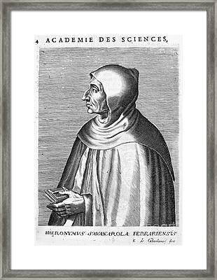 Girolamo Savonarola Framed Print by Granger