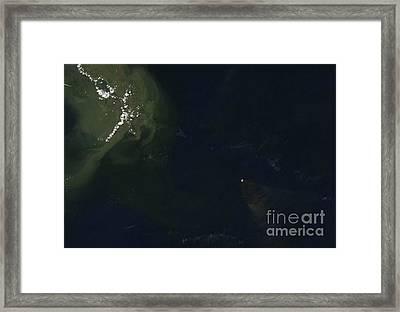 Gulf Oil Spill, April 2010 Framed Print by Nasa