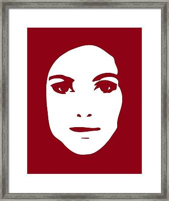 Illustration Of A Woman In Fashion Framed Print