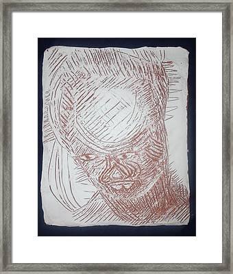 Jesus - Tile Framed Print by Gloria Ssali