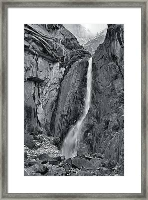 Lower Yosemite Falls Framed Print by Stephen  Vecchiotti