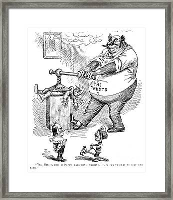 Mckinley Cartoon, 1900 Framed Print