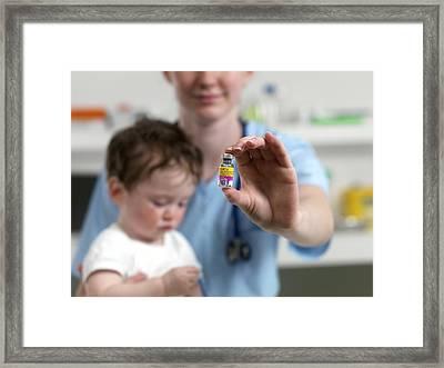 Mmr Vaccine Framed Print by Tek Image