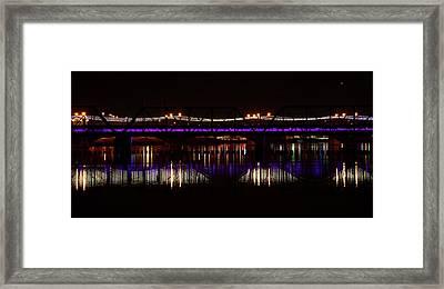 Night Lights Framed Print by Alberto Sanchez