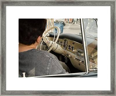 Old Car Framed Print by Odon Czintos