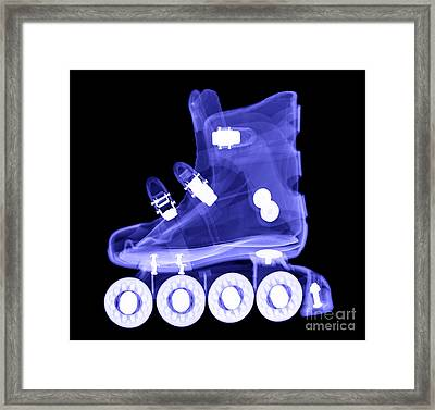 Rollerblade Boot Framed Print by Ted Kinsman