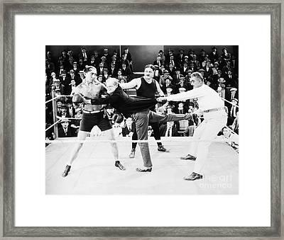 Silent Film Still: Boxing Framed Print by Granger