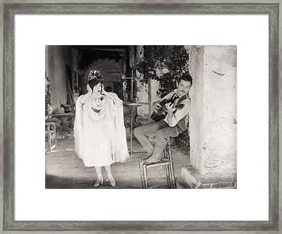 Silent Film Still: Music Framed Print by Granger