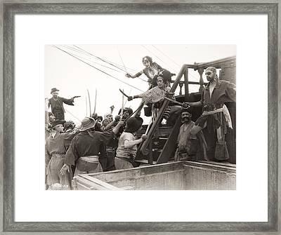 Silent Film Still: Pirates Framed Print by Granger