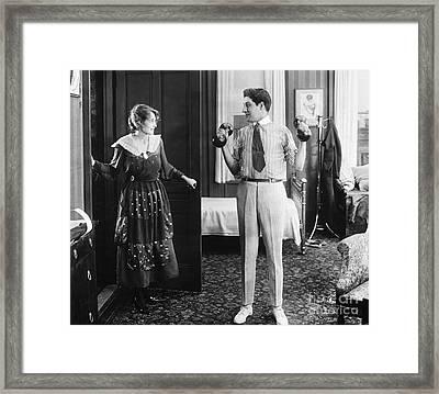 Silent Still: Exercise Framed Print by Granger