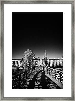 south portland street suspension bridge over the river clyde Glasgow Scotland UK Framed Print by Joe Fox