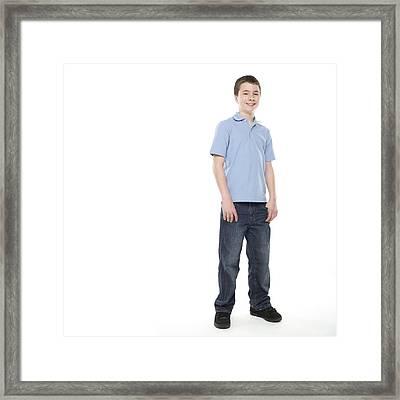 Teenage Boy Framed Print by