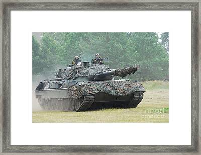 The Leopard 1a5 Main Battle Tank Framed Print by Luc De Jaeger