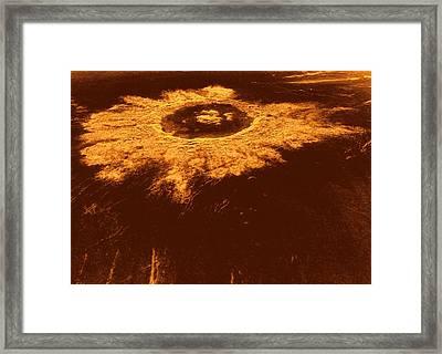 Venus, Synthetic Aperture Radar Map Framed Print by Detlev Van Ravenswaay