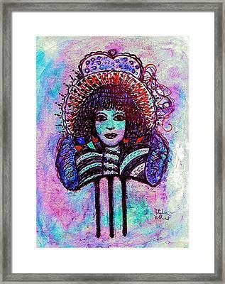 Vintage Hair Comb Framed Print