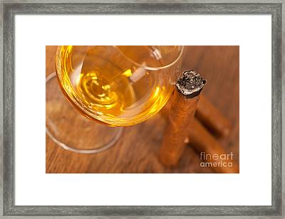 Whisky And Cigars Framed Print by Sabino Parente