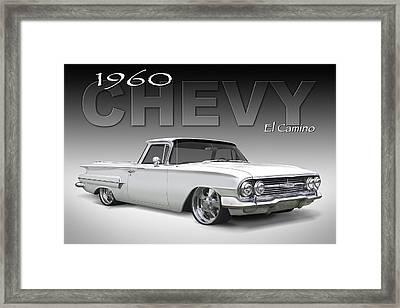 60 Chevy El Camino Framed Print by Mike McGlothlen