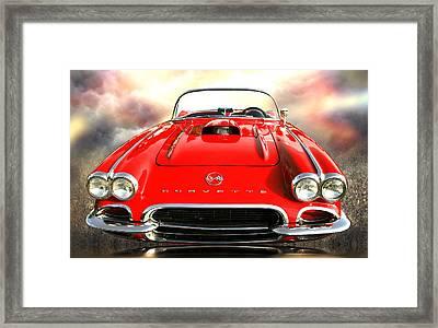 62 Vette Framed Print by Stephen Warren