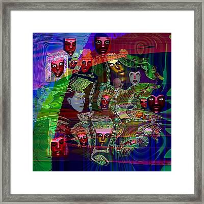 636 - People Masks Framed Print