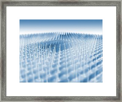 64-bit Central Processing Unit Framed Print by Pasieka