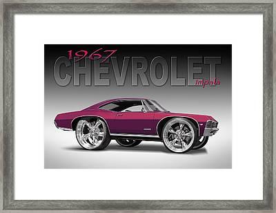 67 Chevrolet Impala Framed Print by Mike McGlothlen