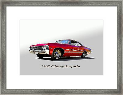 67 Chevy Framed Print by John Hix