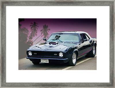 Framed Print featuring the photograph 68 Pro Street Camaro by Bill Dutting