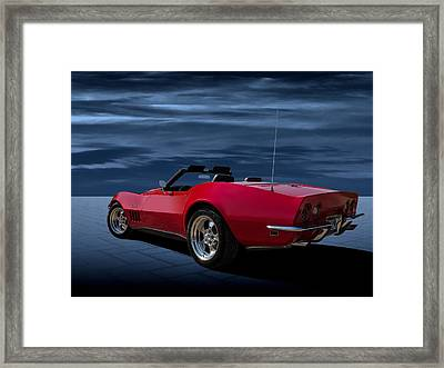 69 Red Framed Print