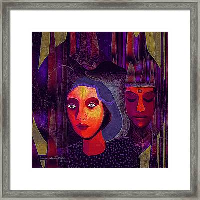 696 - Couple Framed Print by Irmgard Schoendorf Welch